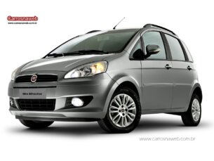 Super Oferta: Fiat Idea Attractive 1.4 (Flex) 2014/2014 4P Prata Flex