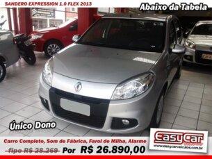 Super Oferta: Renault Sandero Expression 1.0 16V (flex) 2013/2013 4P Prata Flex