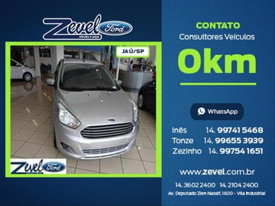 FORD KA SEDAN SE PLUS 1.0  FLEX