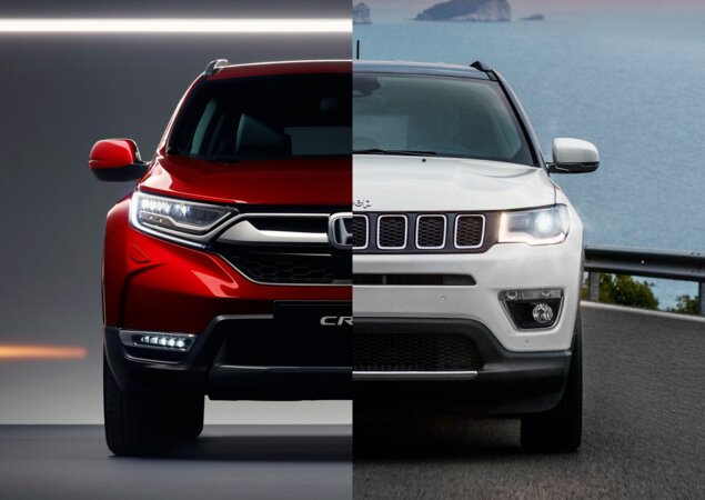 Honda cr v touring ou jeep compass limited em n meros for Jeep compass vs honda crv