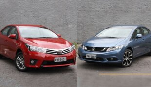 Honda Civic x Toyota Corolla: desempatando o meio de campo