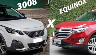 Chevrolet Equinox Premier x Peugeot 3008 Griffe | Em números