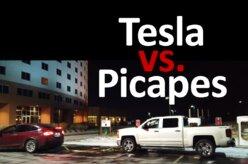 Vingança? Donos de Tesla rebocam picapes para fora de postos