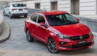 Fiat Cronos sobe e é 3º sedã compacto mais vendido de julho