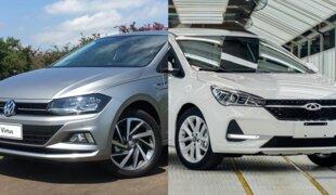 Em números: VW Virtus Highline ou CAOA Chery Arrizo 5 RXT?